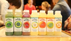Evo Fresh juice tasting samples
