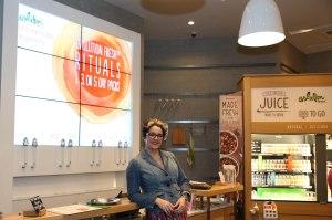Evo Fresh juice tasting store shot
