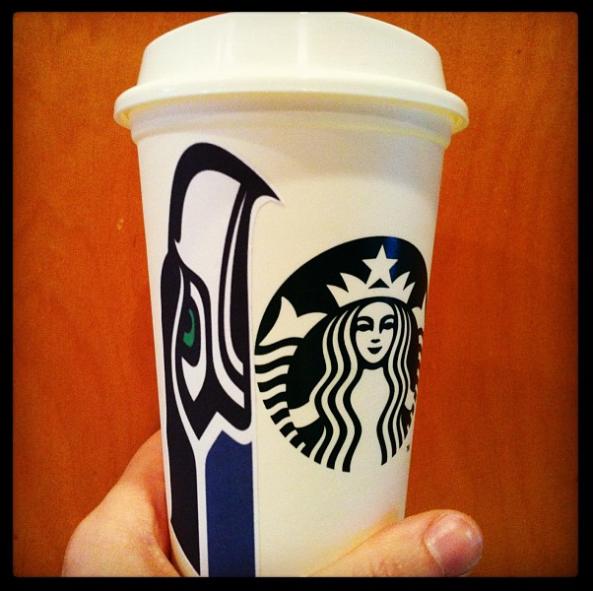 #GoHawks and Starbucks