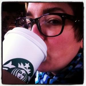S&S drinking Starbucks