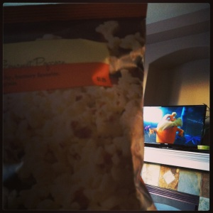 Starbucks popcorn and The Lorax