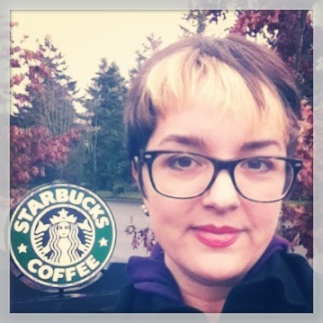 Starbucks sign headshot