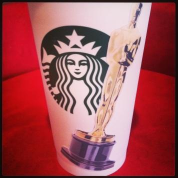 Oscar Starbucks cup