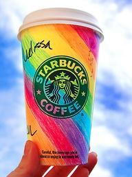 Rainbow Starbucks