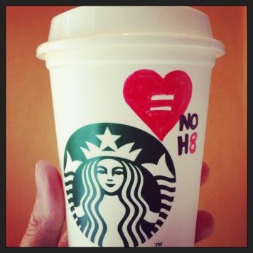 NOH8 Starbucks