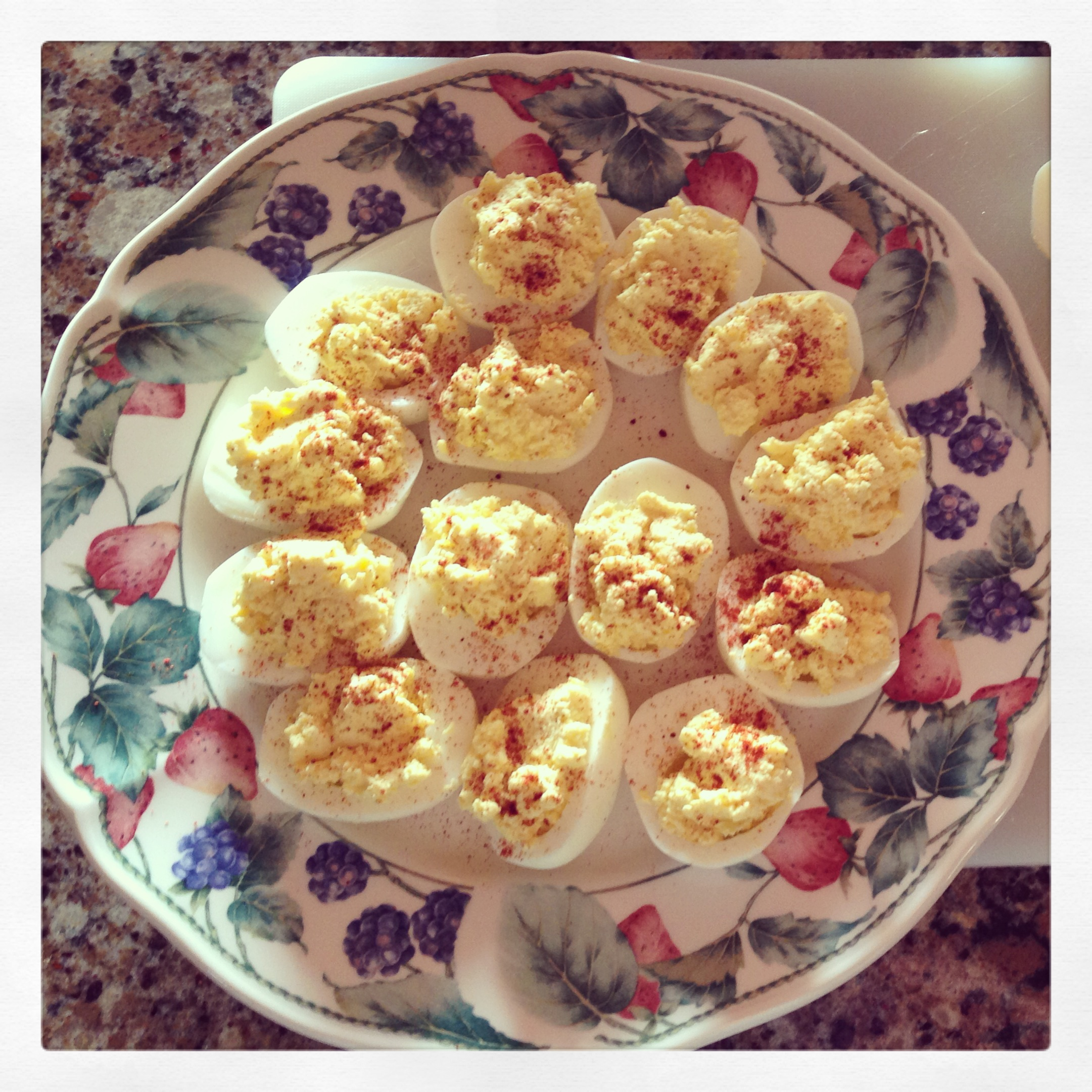 Starbucks deviled eggs finished product