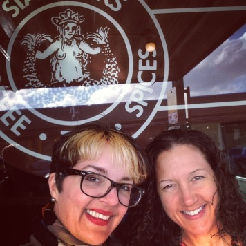 Sybil and I at Starbucks #1
