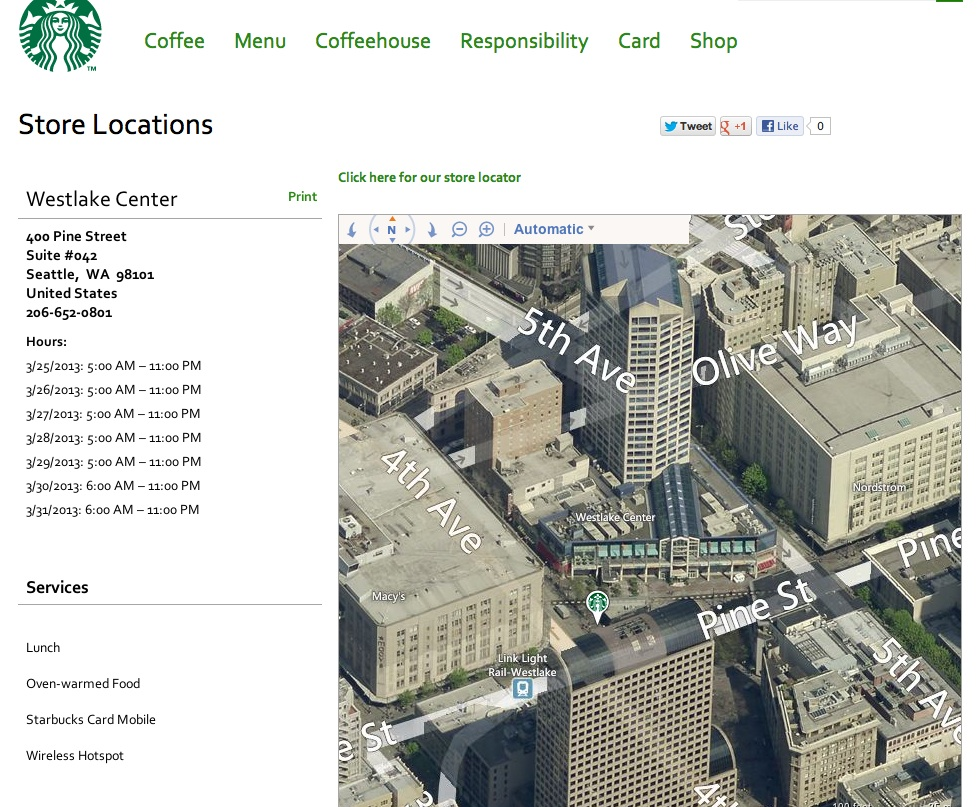 Westlake Center Starbucks