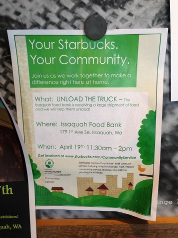 Issaquah Food Bank Starbucks event