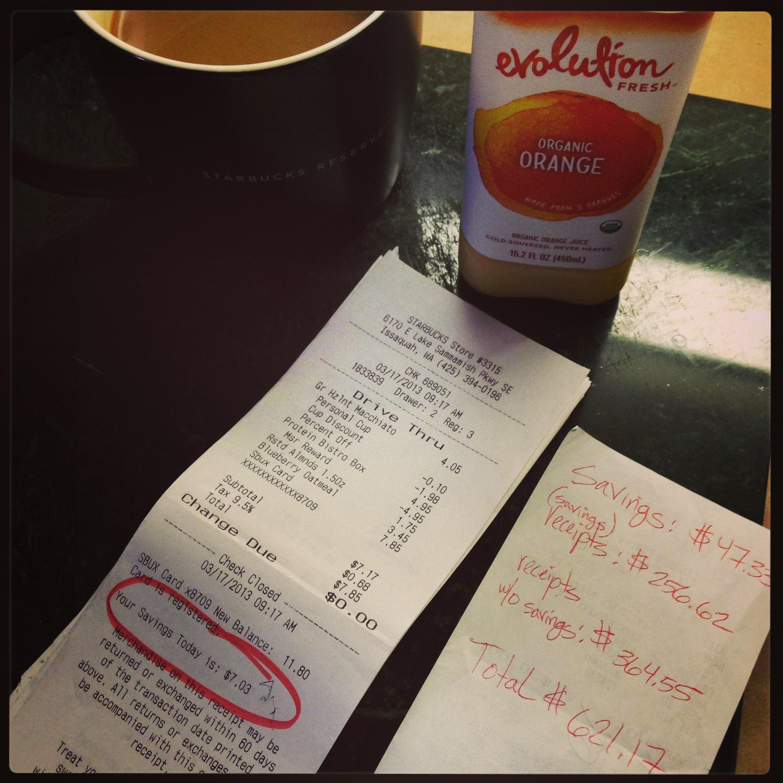 March Starbucks Savings