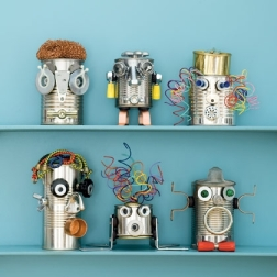 Recycled can robots