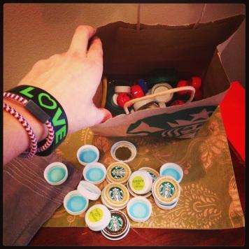 Starbucks lids for SJCC ECS