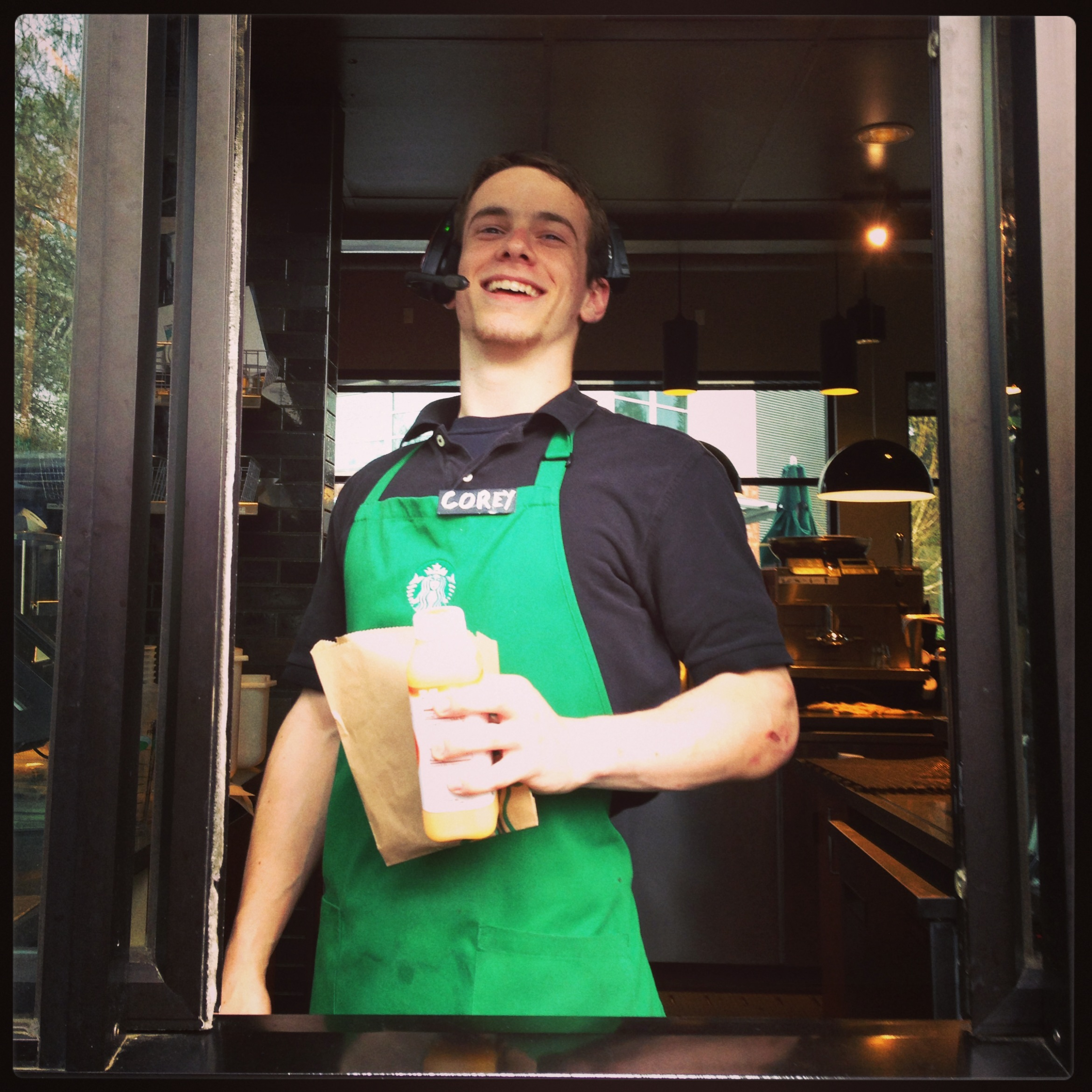 Starbucks partner Corey