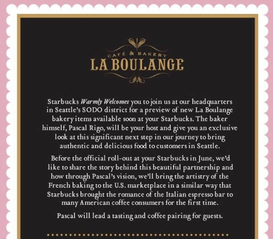 La Boulange invite small