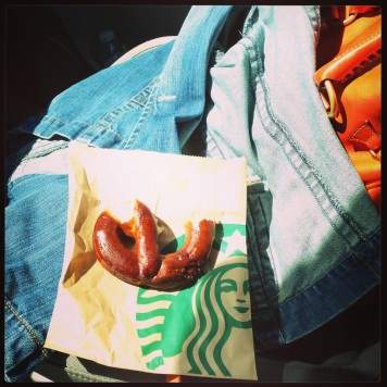 Starbucks Bavarian Dijon pretzel