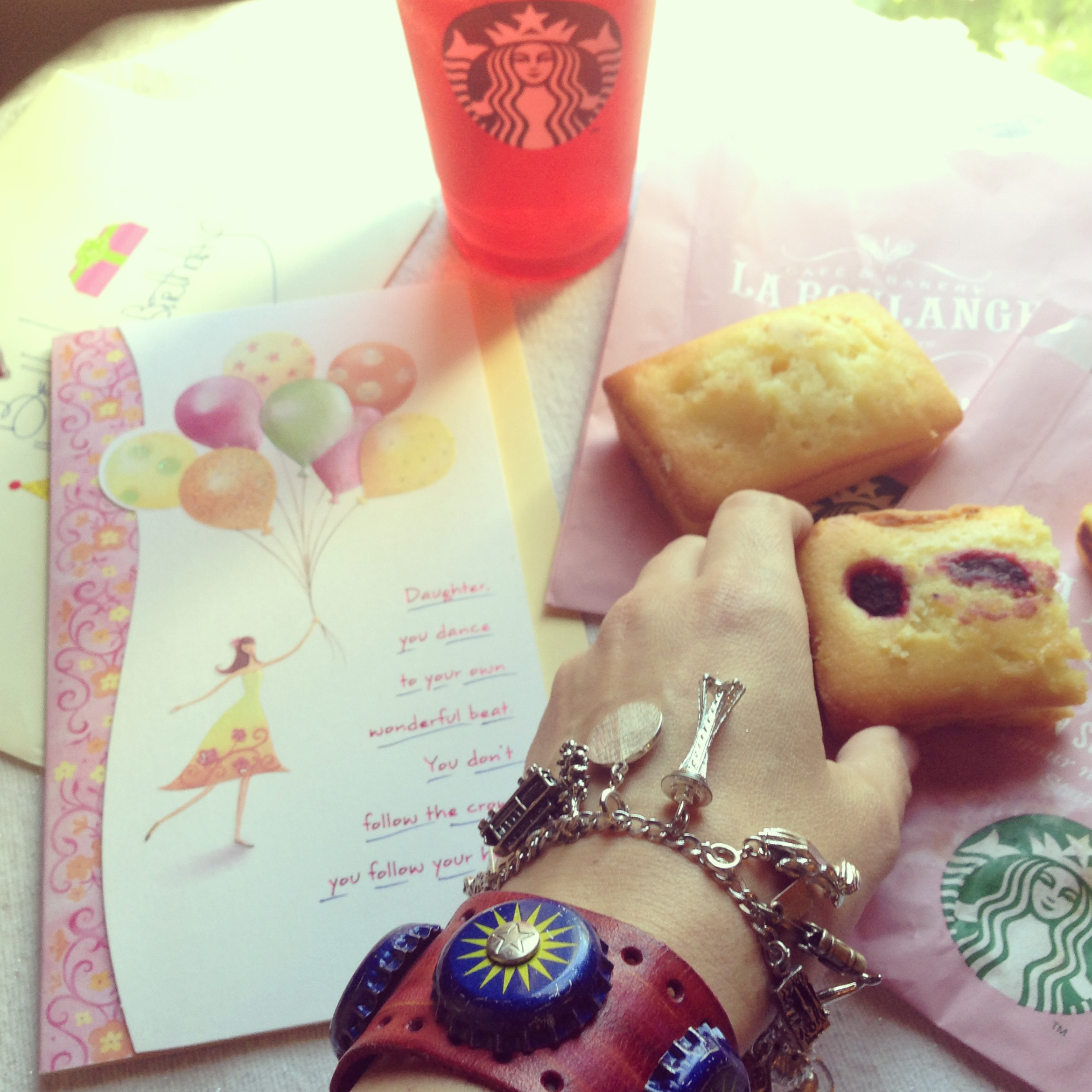 Birthday gifts and Starbucks