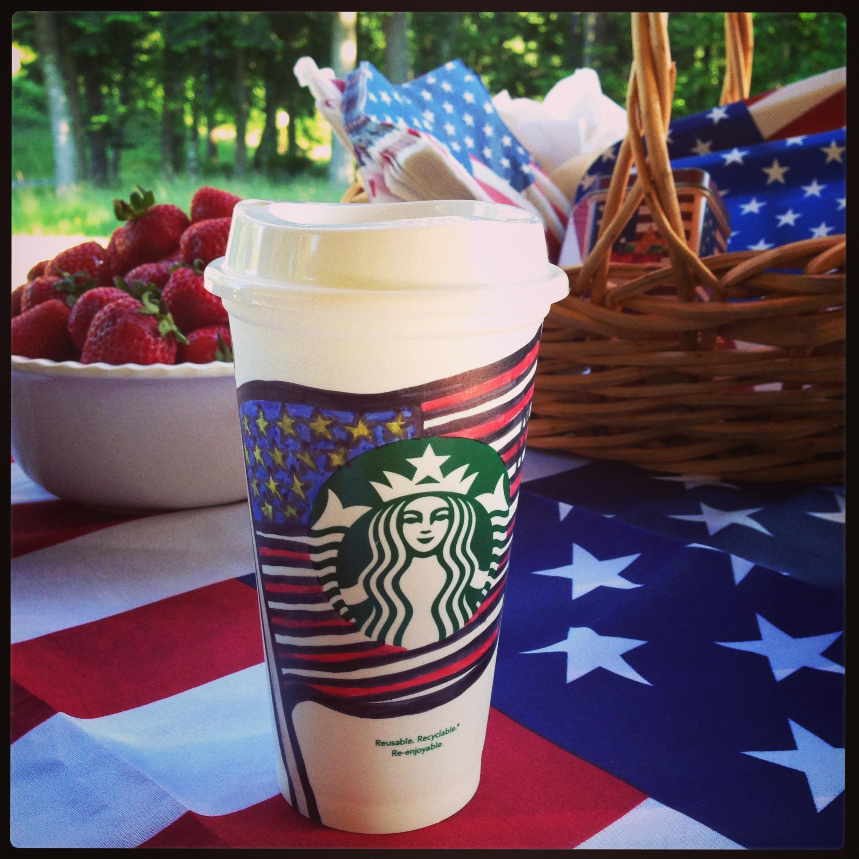 Flag Day Starbucks