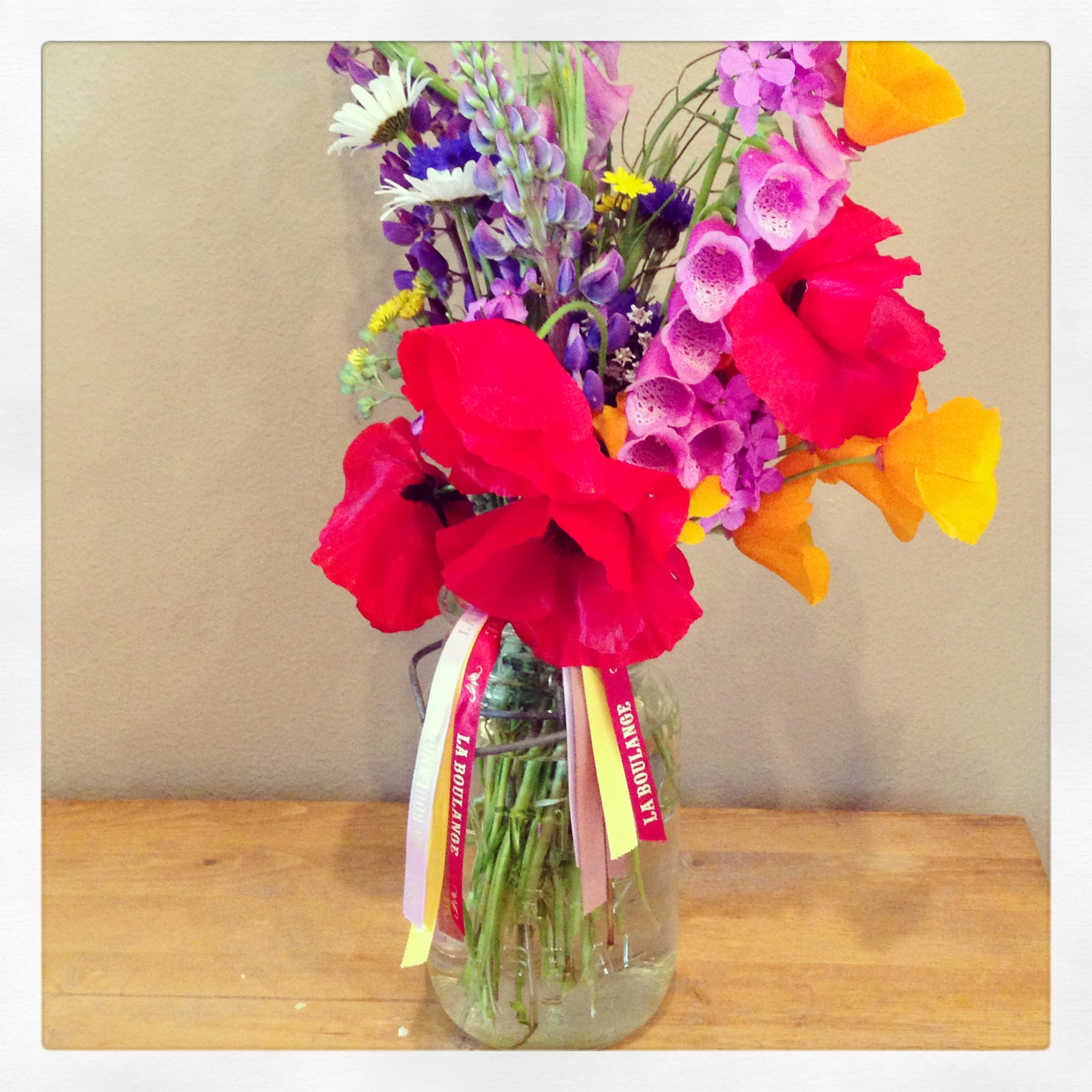 La Boulange wildflowers