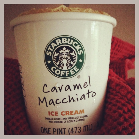 Starbucks Caramel Macchiato evening