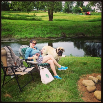Starbucks, Leroy and Ukulele at the Creek