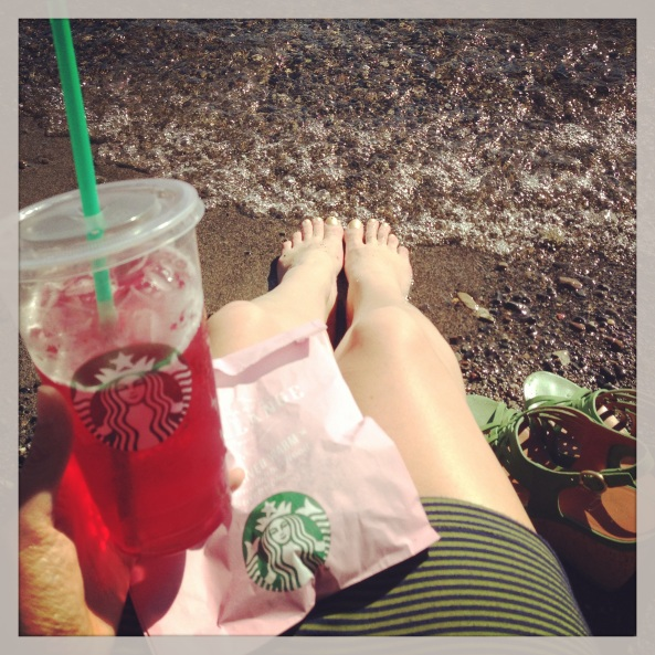 Starbucks on the beach