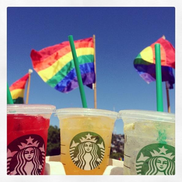 Starbucks Pride Refreshers