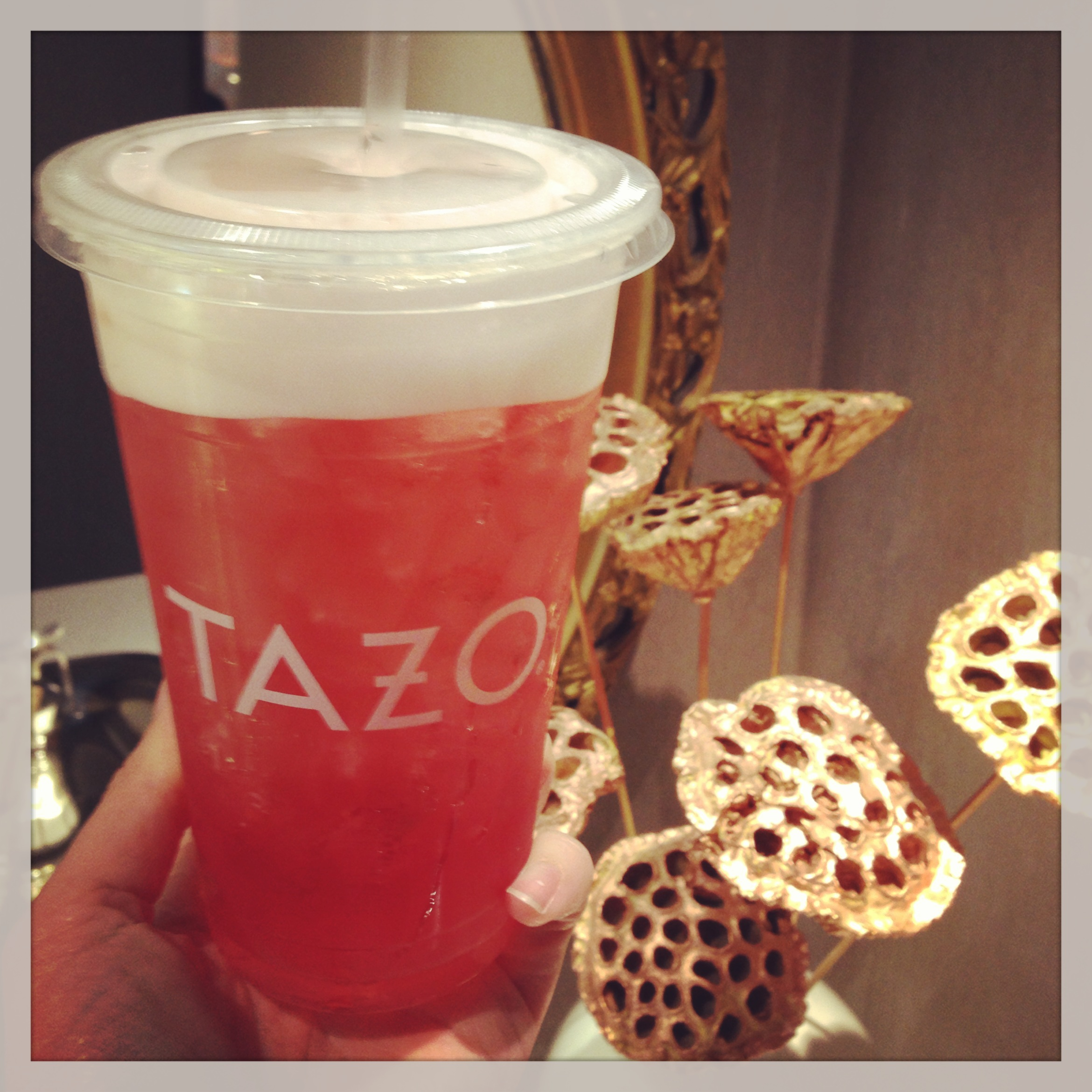 Tazo Tea Sparkling Sangria w: White Tips