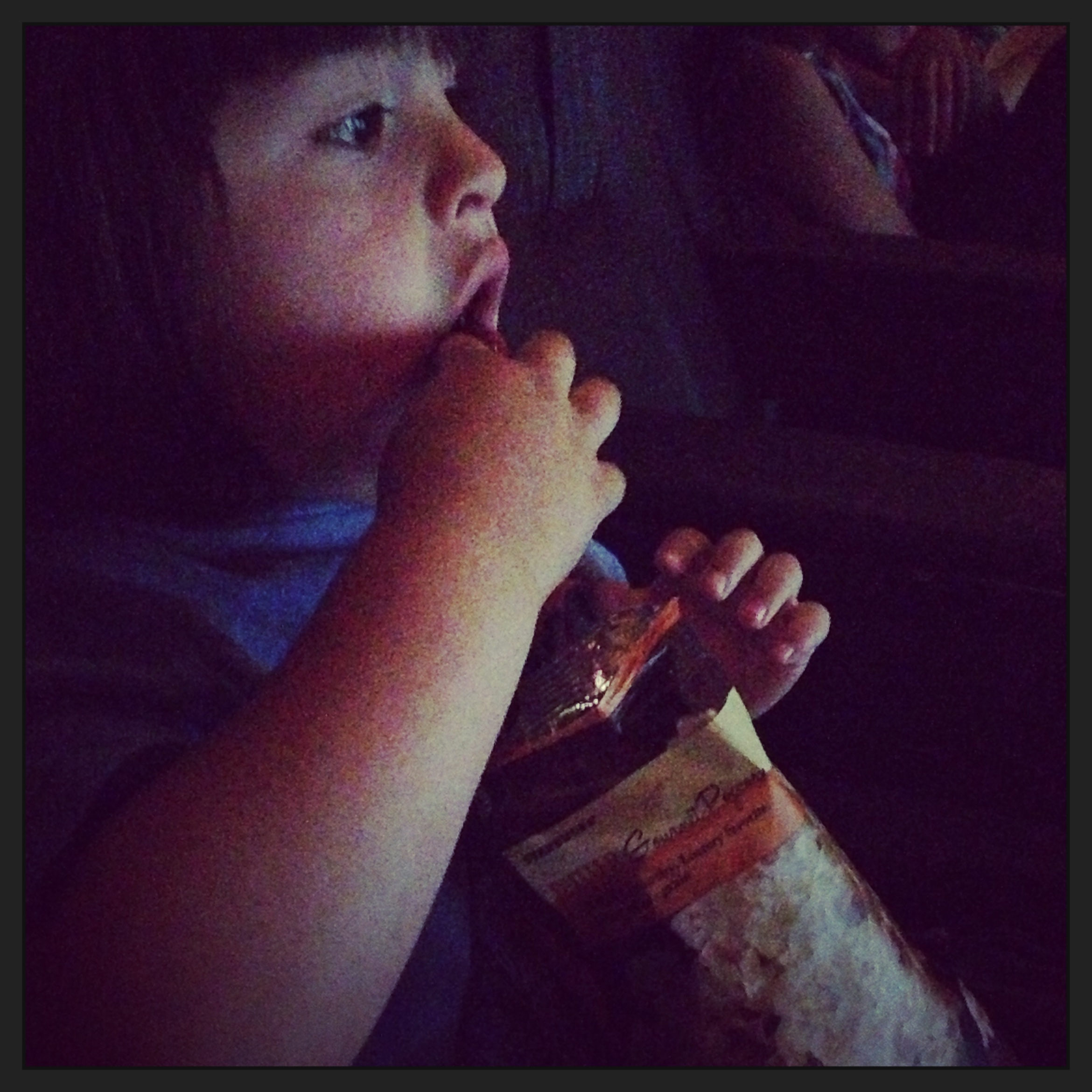 Bubs with Starbucks at first movie