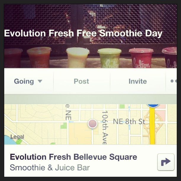 Evo Fresh Free Smoothie Day