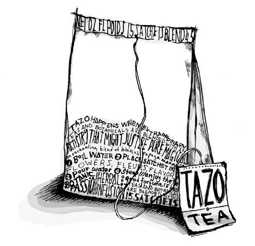 Tazo Tea Bag Sketch